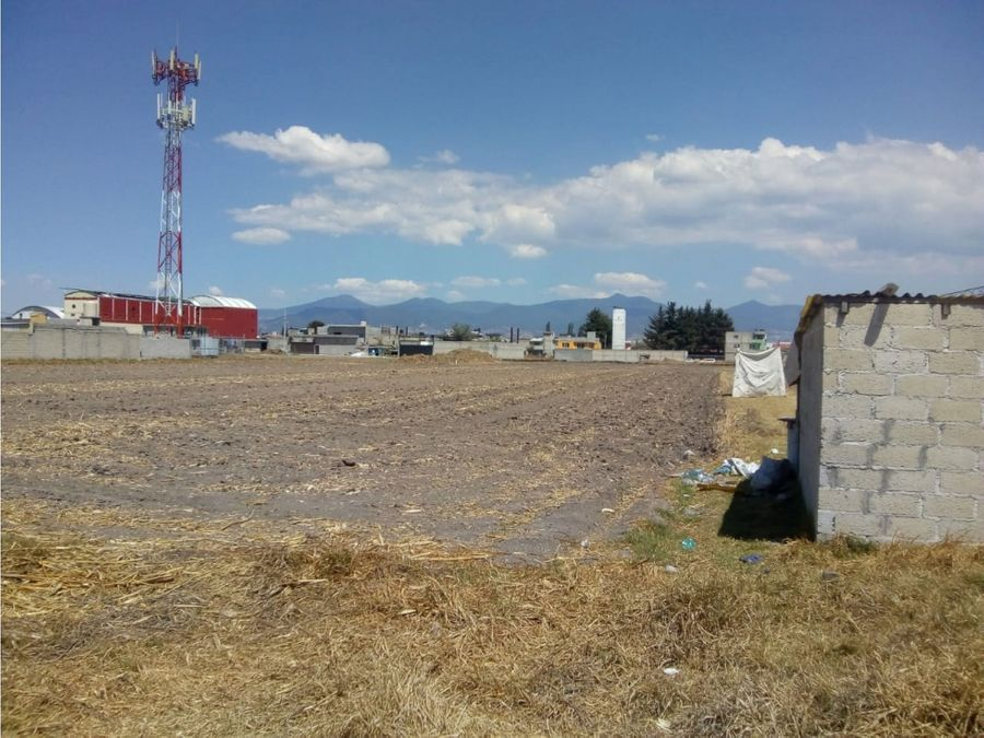 terreno frente al aeropuerto de toluca