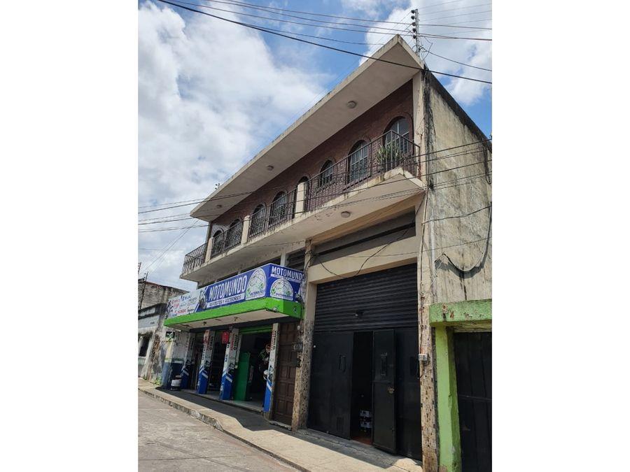 amplio inmueble comercial y vivienda en venta zona 1 retalhuleu