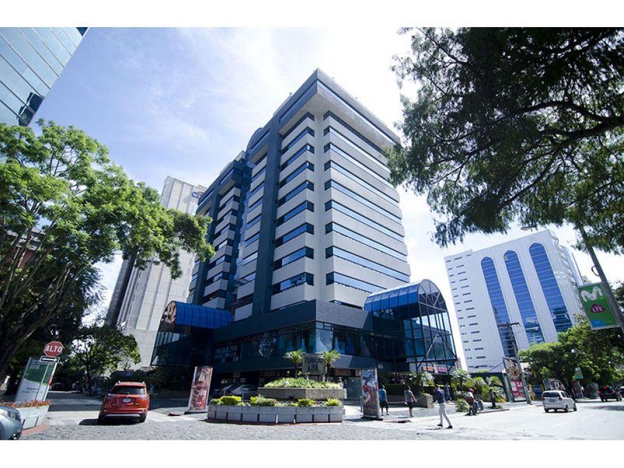 oficina 66 mts2 edificio topacio azul en renta zona 10