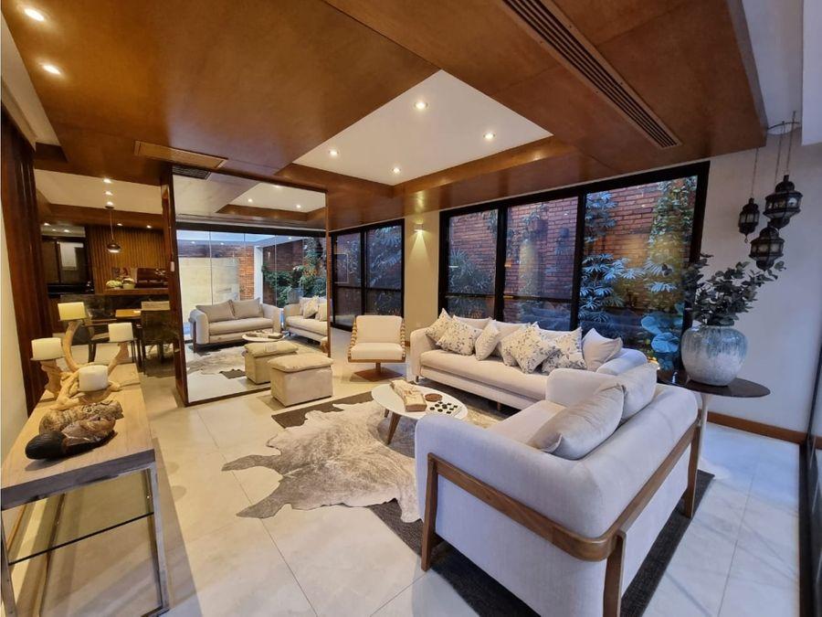 vendo lujosa residencia amoblada en barrio cerrado