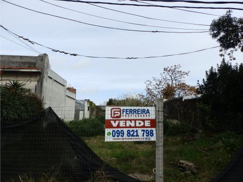 vende terreno de 377 m2 con 10 mts de frente