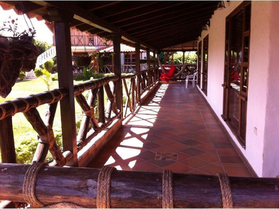 finca hotel en venta via quimbaya q