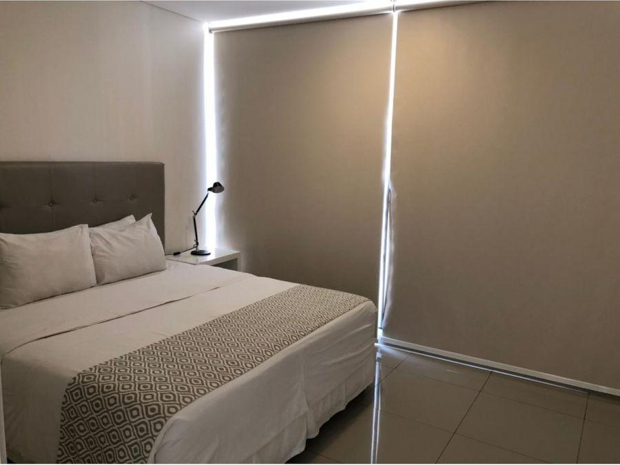 amplio dpto amoblado y equipado de 1 dormitorio