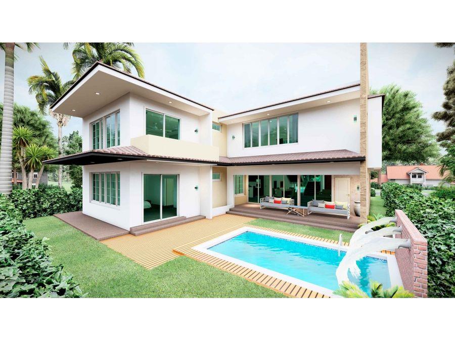 nueva moderna villa de 4 hab en construccion en puntacana village