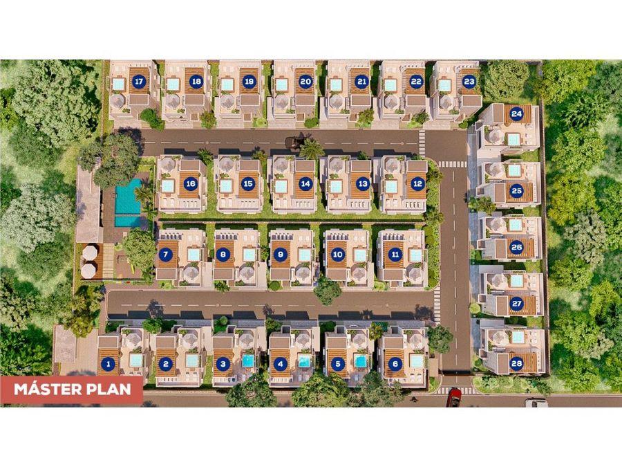 hermosa villa de 3 hab en proyecto rosa marina residence