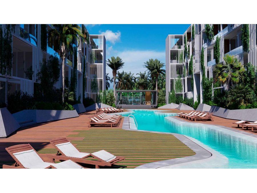 apartamento de 1 hab en construccion en kasa punta cana residence