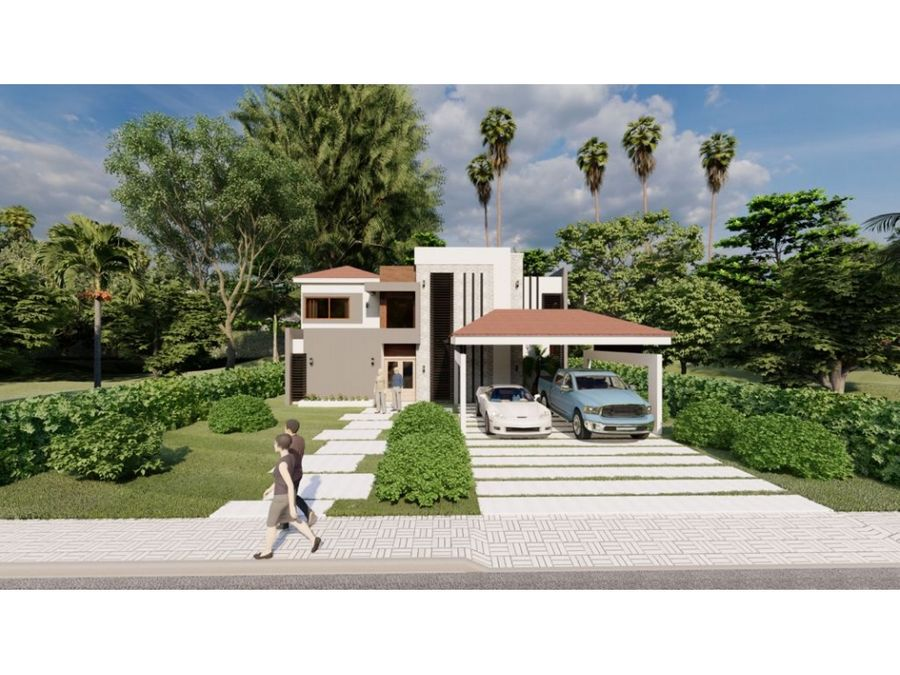 nueva villa de 4 hab en construccion en puntacana village