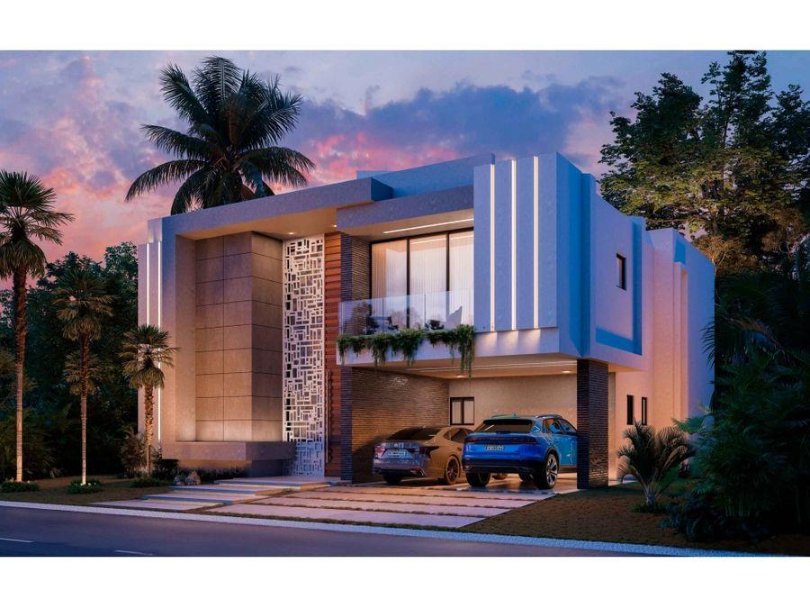 villa con 4 hab y estudio en construccion en puntacana village