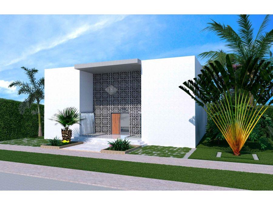 villa de 5 hab en construccion open villa las iguanas cap cana