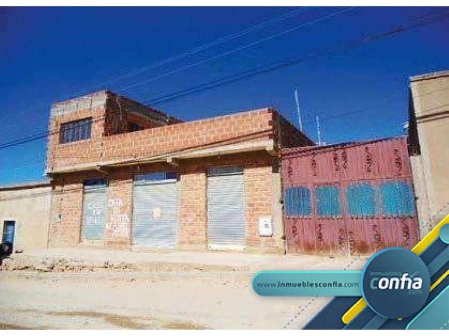 casa en venta calle ecuador sn zona el chorro el puente villazon