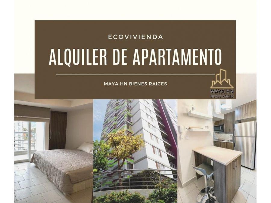 se alquila apartamento en ecovivienda