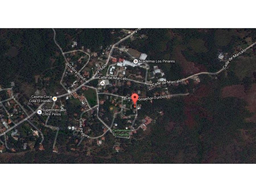 se vende lote de terreno en la aldea el hatillo