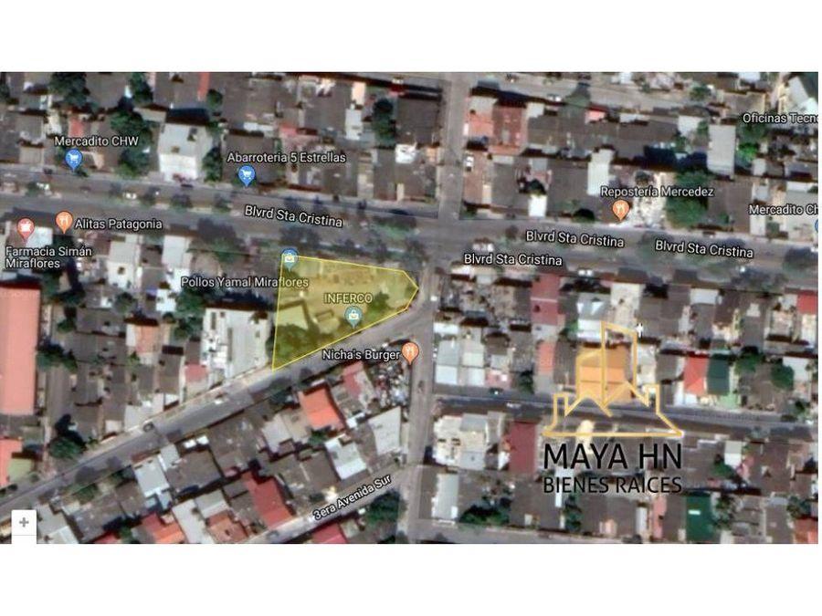 se vende terreno en col miraflores tegucigalpa