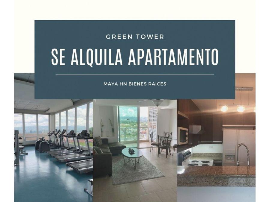 se alquila apartamento amueblado en green tower