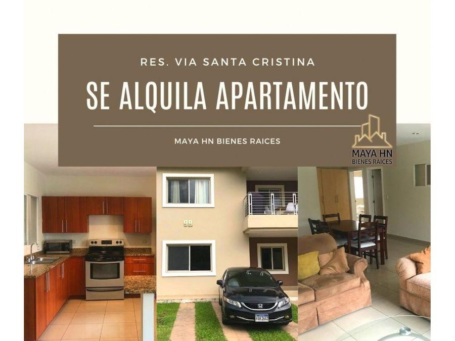 se alquila apartamento en res via santa cristina