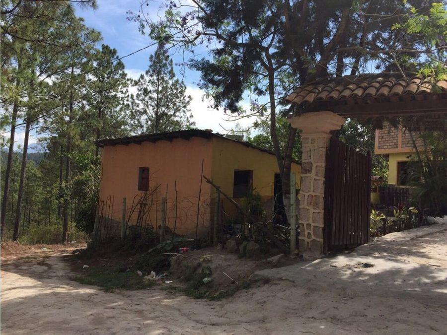 se vende casa en aldea cerro grande honduras