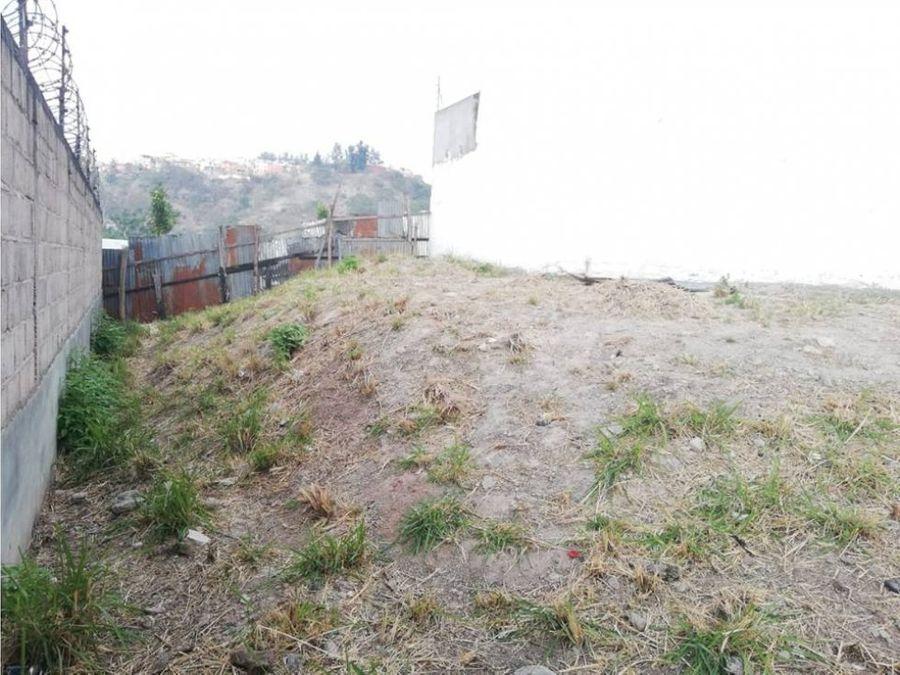 se vende terreno en res san juan tegucigalpa