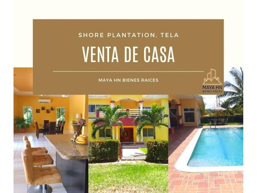 se vende casa en tela shore plantation