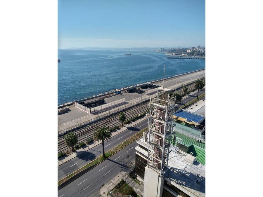 se vende depto con vista al mar y amoblado centro valparaiso