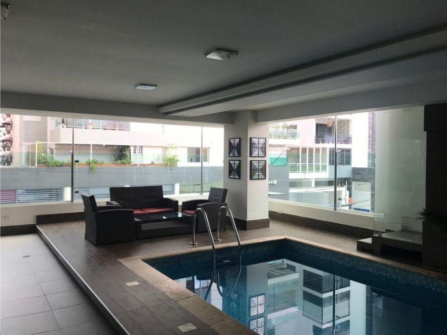 apartamento en naco con area social y piscina
