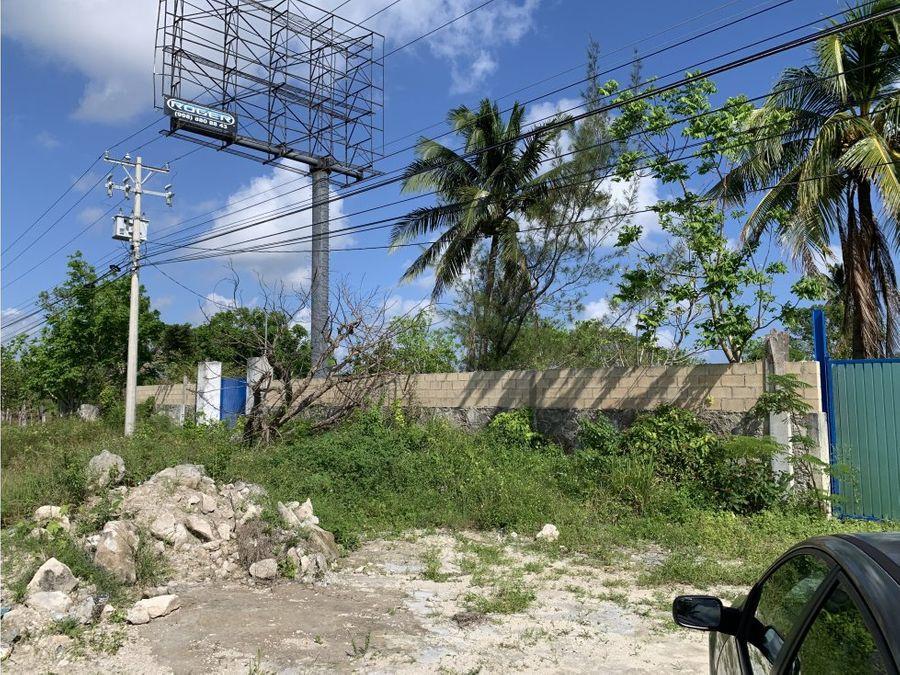terreno en venta en cancun carretera petempich 10000 m2 18 mdp