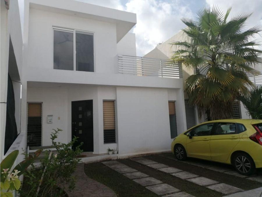 casa en renta en cancun sur 120 m2 3 recamaras 16000 mxn