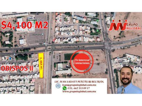 se vende terreno comercial de 2064m2 sobre blvd juan navarrete