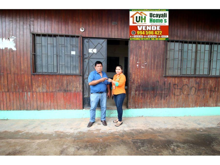 00275 venta casa pucallpa material seminoble 318m2
