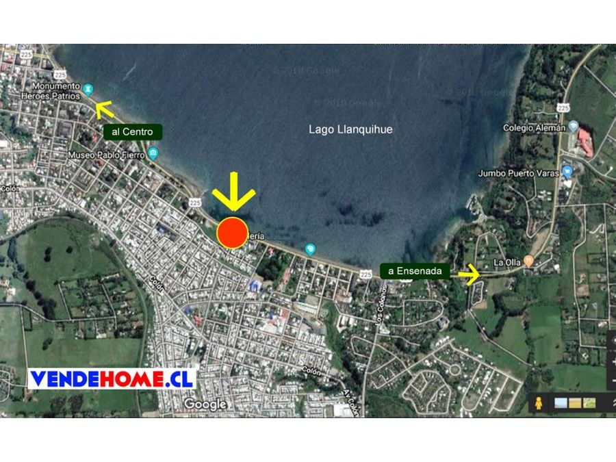 venta gran casa puerto varas frente al lago