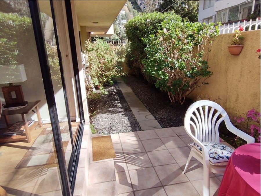venta departamento renaca amoblado patio privado 2 cuadras playa