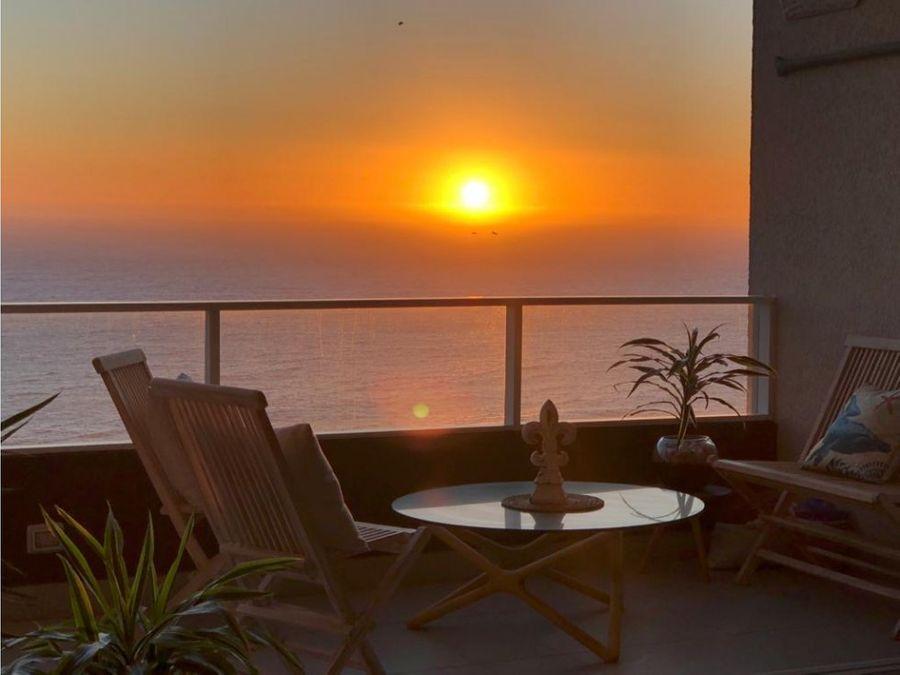 venta espectacular duplex vista al mar en concon