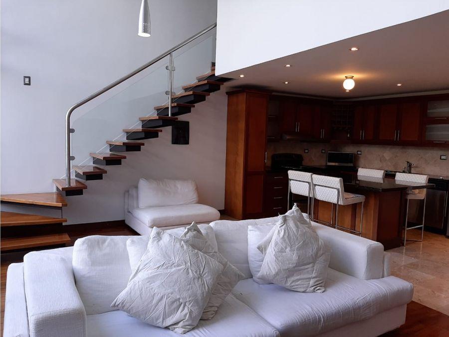 apartamento amueblado zona 15 tipo loft