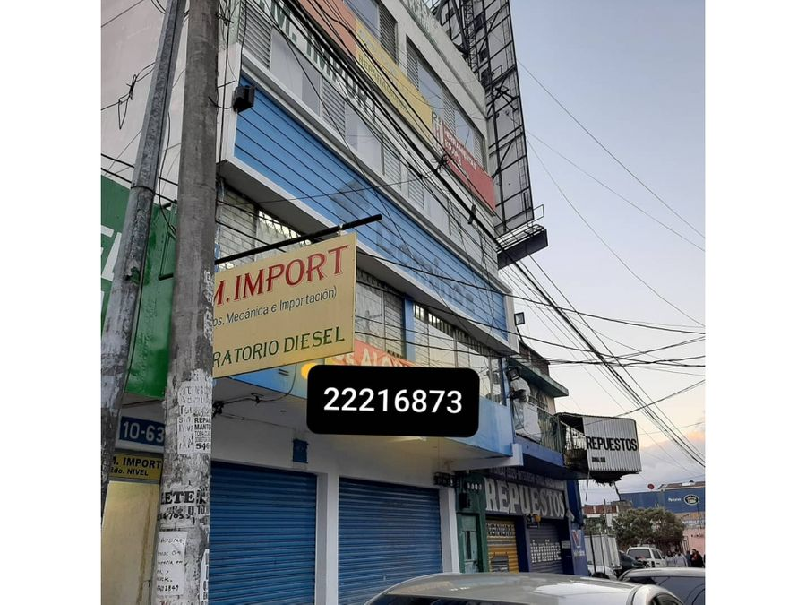 edificio de 3 niveles calzada san juan mixco zona 4