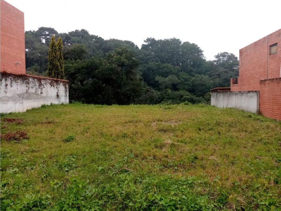 terreno zona 15 vista hermosa i condominio exclusivo