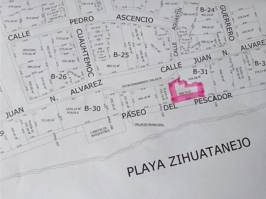 lote con vista al mar ubicado en el centro de zihuatanejo mexico