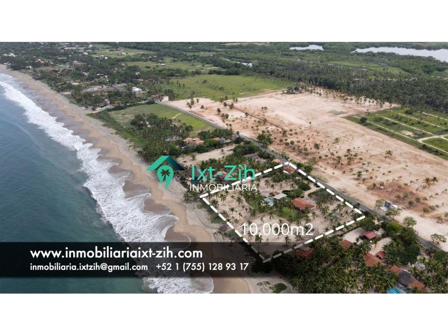 1 hectarea frente al mar con casa de descanso zihuatanejo mexico