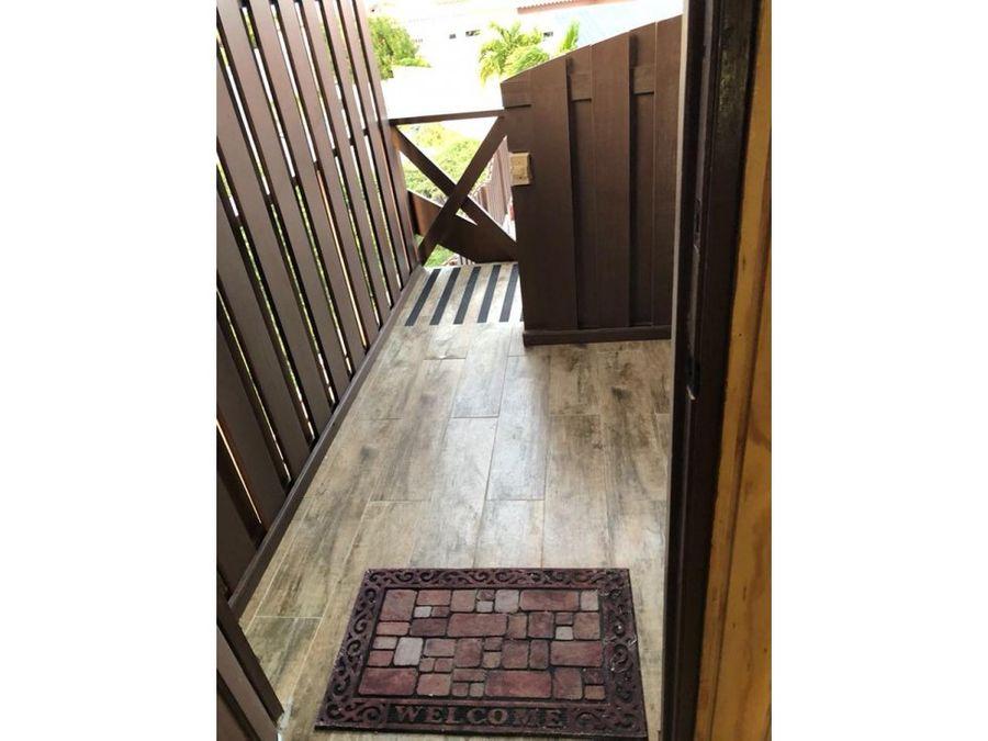 se alquila apartamento privado en dushi iguana