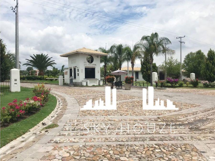 terreno en venta en residencial eden los sabinos al sur de la ciudad