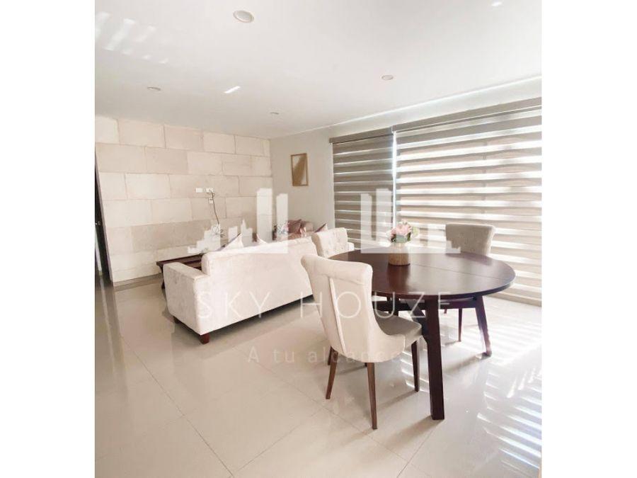 departamento de lujo amueblado renta terranza residence