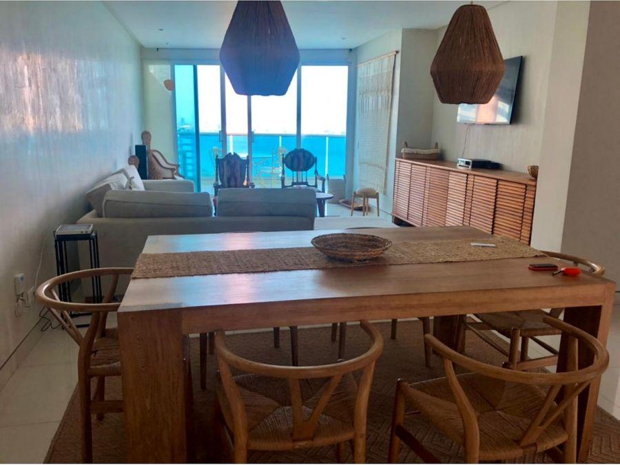 apartamento en venta en castillogrande con vista directa a la bahia