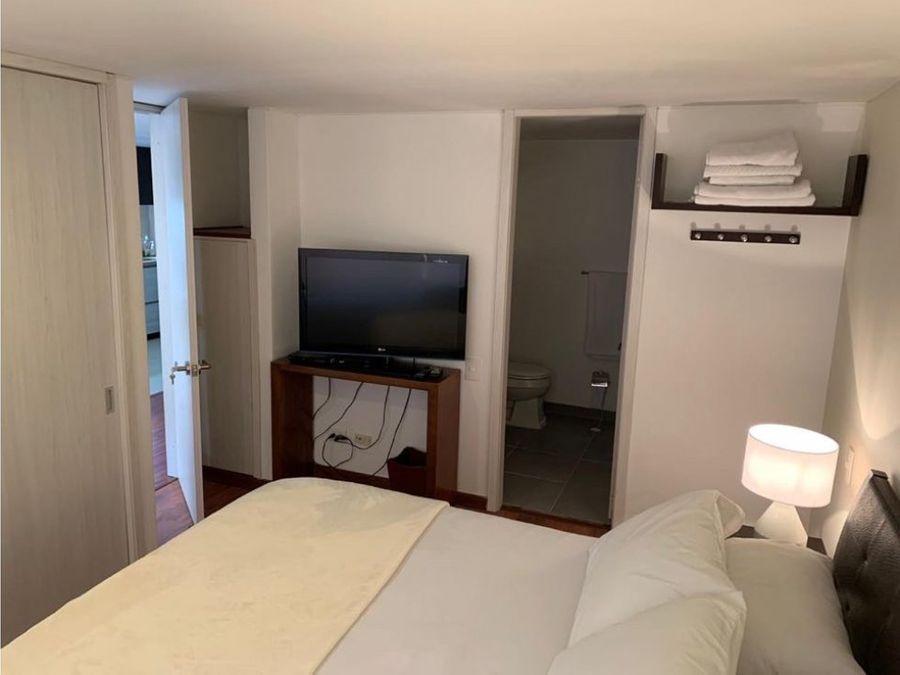 renta apartamento amoblado en chico 45m2 1 alcoba parque 93