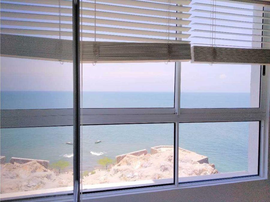 venta de apartamento frente al mar en santa marta