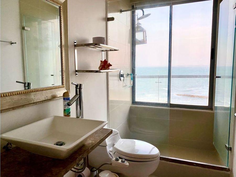 vendo apartamento en cartagena frente al mar