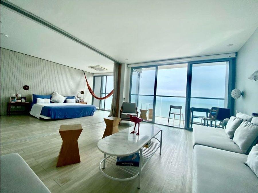 vendo lujoso apartamento en cartagena en bocagrande frente al mar