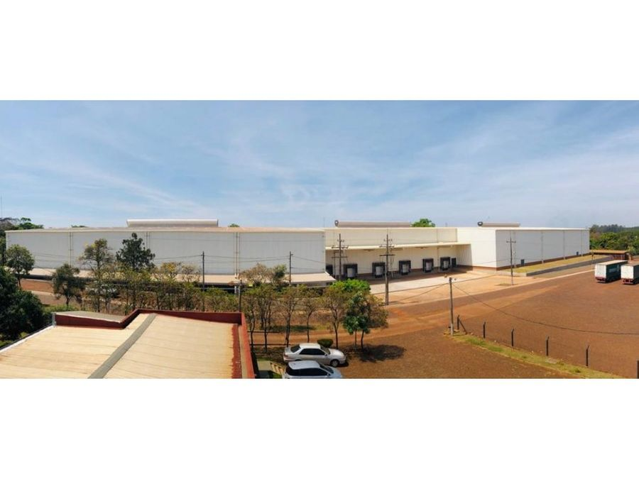 alquilo nave industrial de 7784 m2 en minga guazu