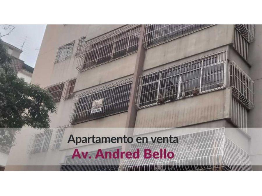 apartamento en venta con hermosa vista av andres bello