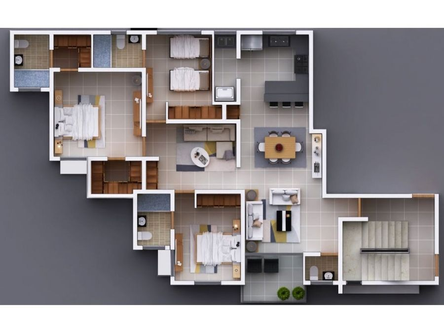 apartamento de venta en el embrujo tercero