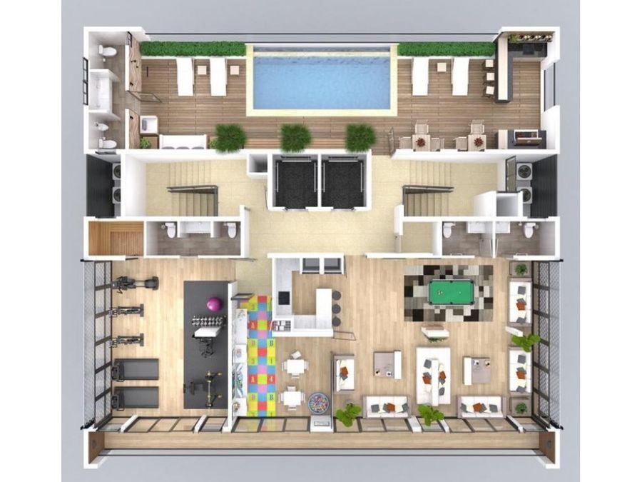 apartamento de venta en el reparto rincon largo en santiago