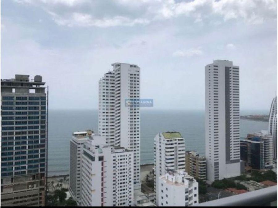 apartamento en venta en cartagena en bocagrande frente al mar