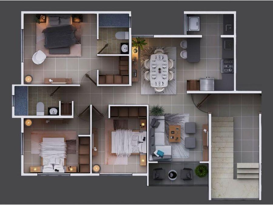 apartamentos de venta en villa maria en plano